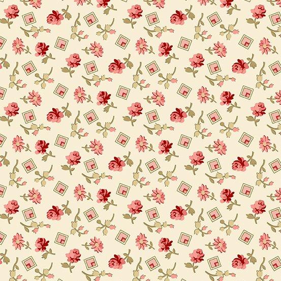 Little Sweetheart - Cream w/ flower & square