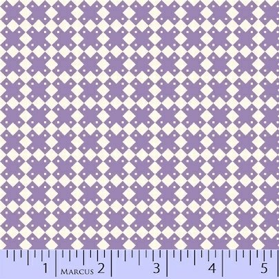 Aunt Grace Basket of Scraps - purple cross