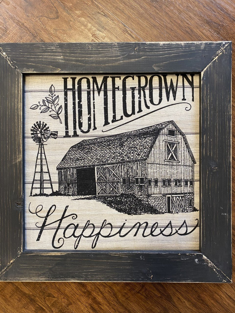Homegrown Happiness framed 12-1/2x12-1/2