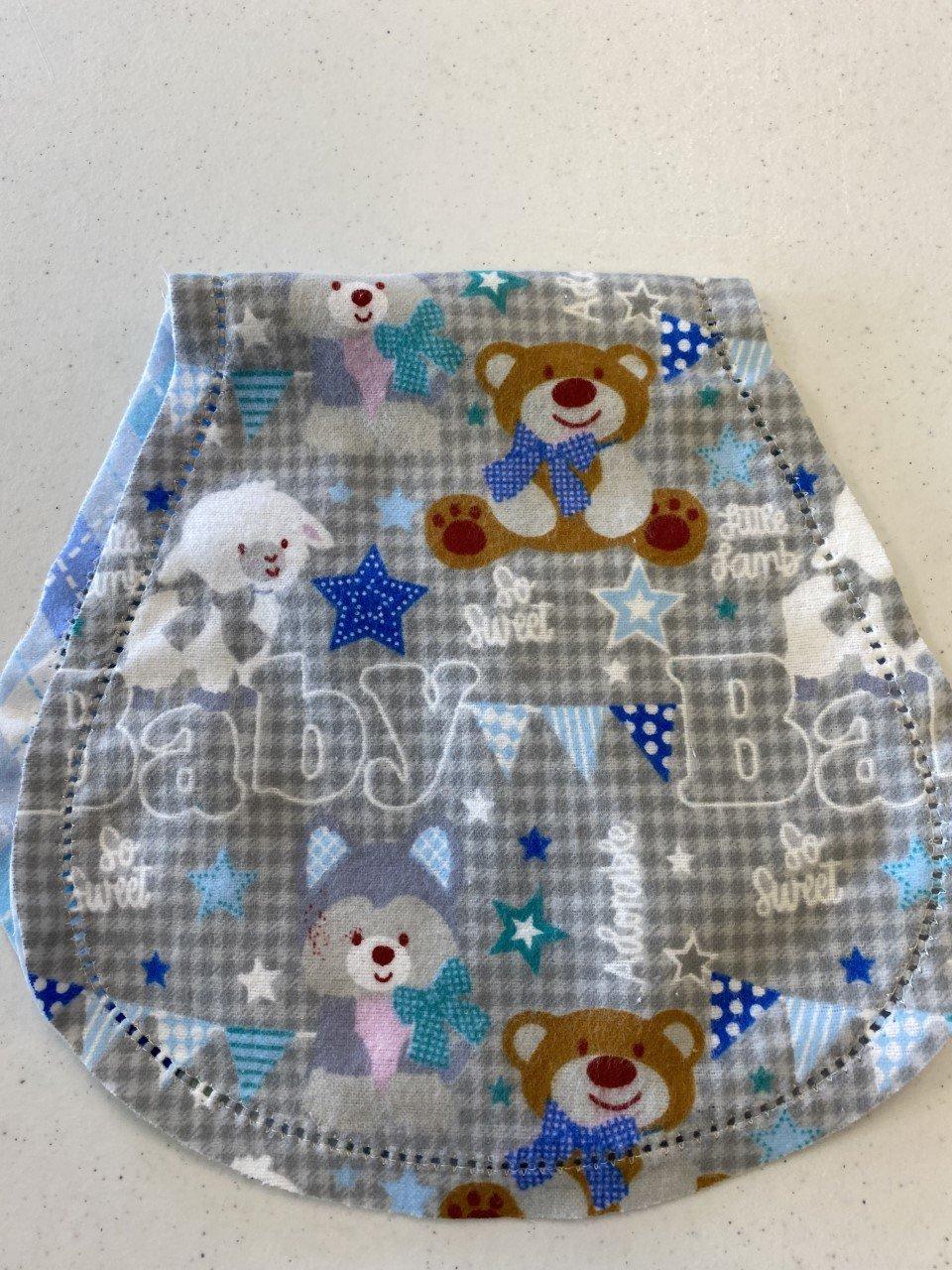 Burp Cloth - Bear Lamb Baby