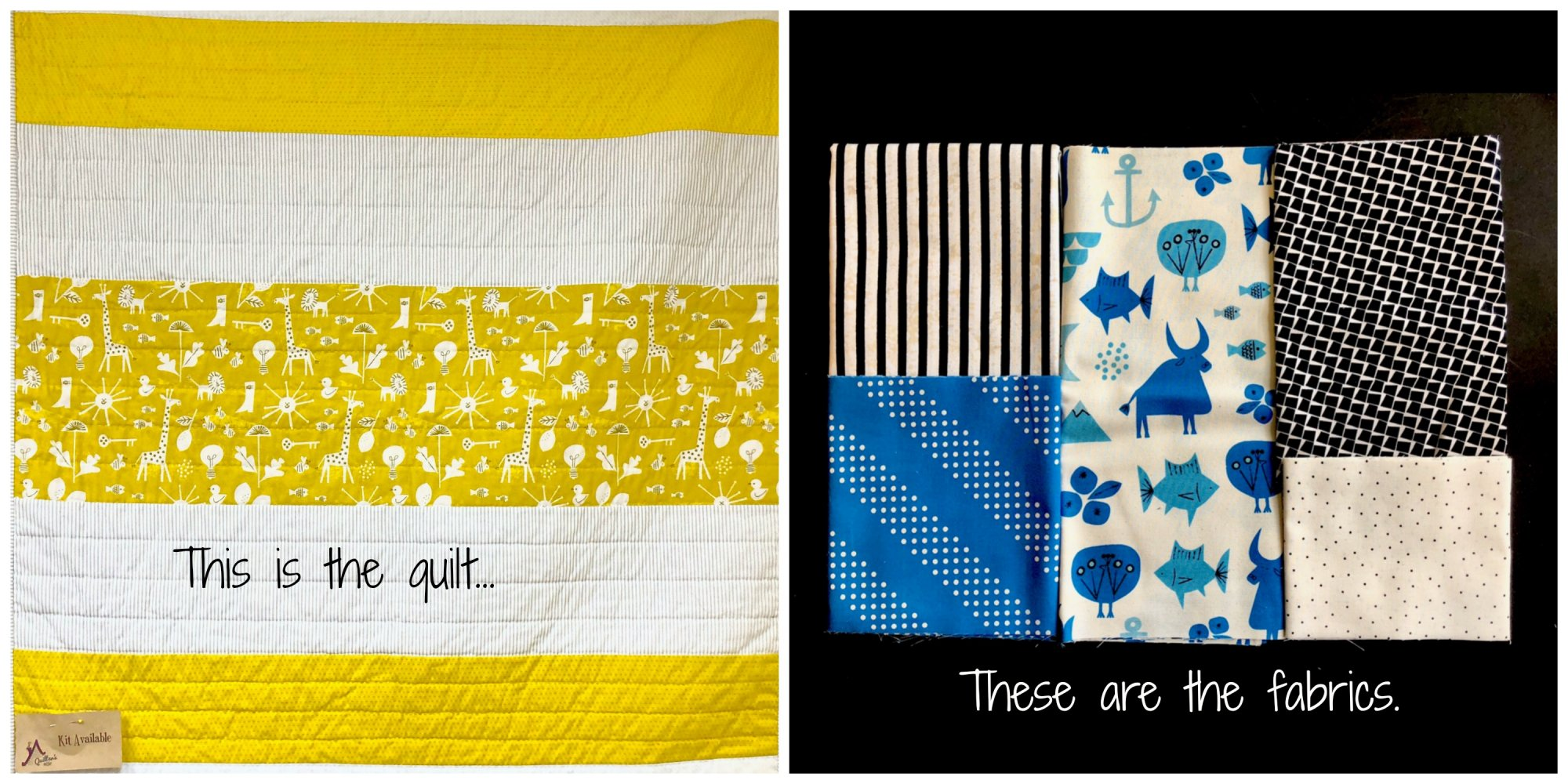 Blue Spectacle Baby Quilt - Kit