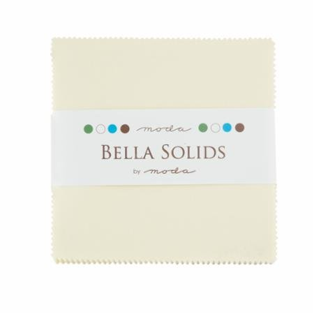 Bella Solids Charm Pack - Snow