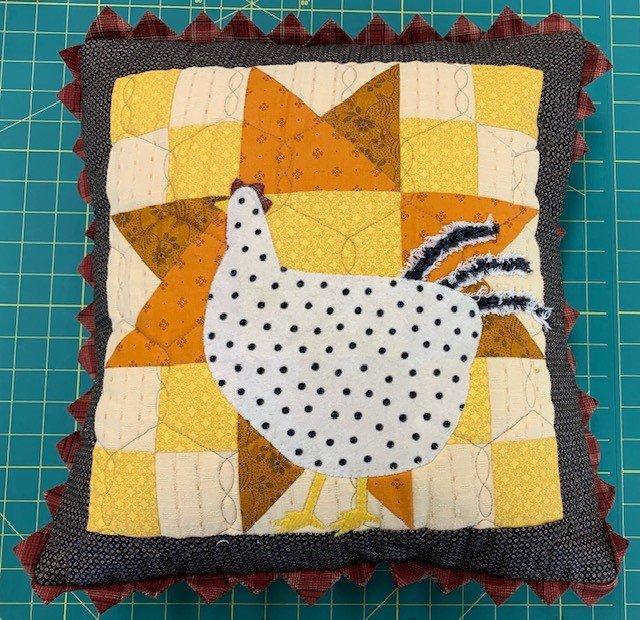 Chicken Pillow 16 (pillow form not incl.)