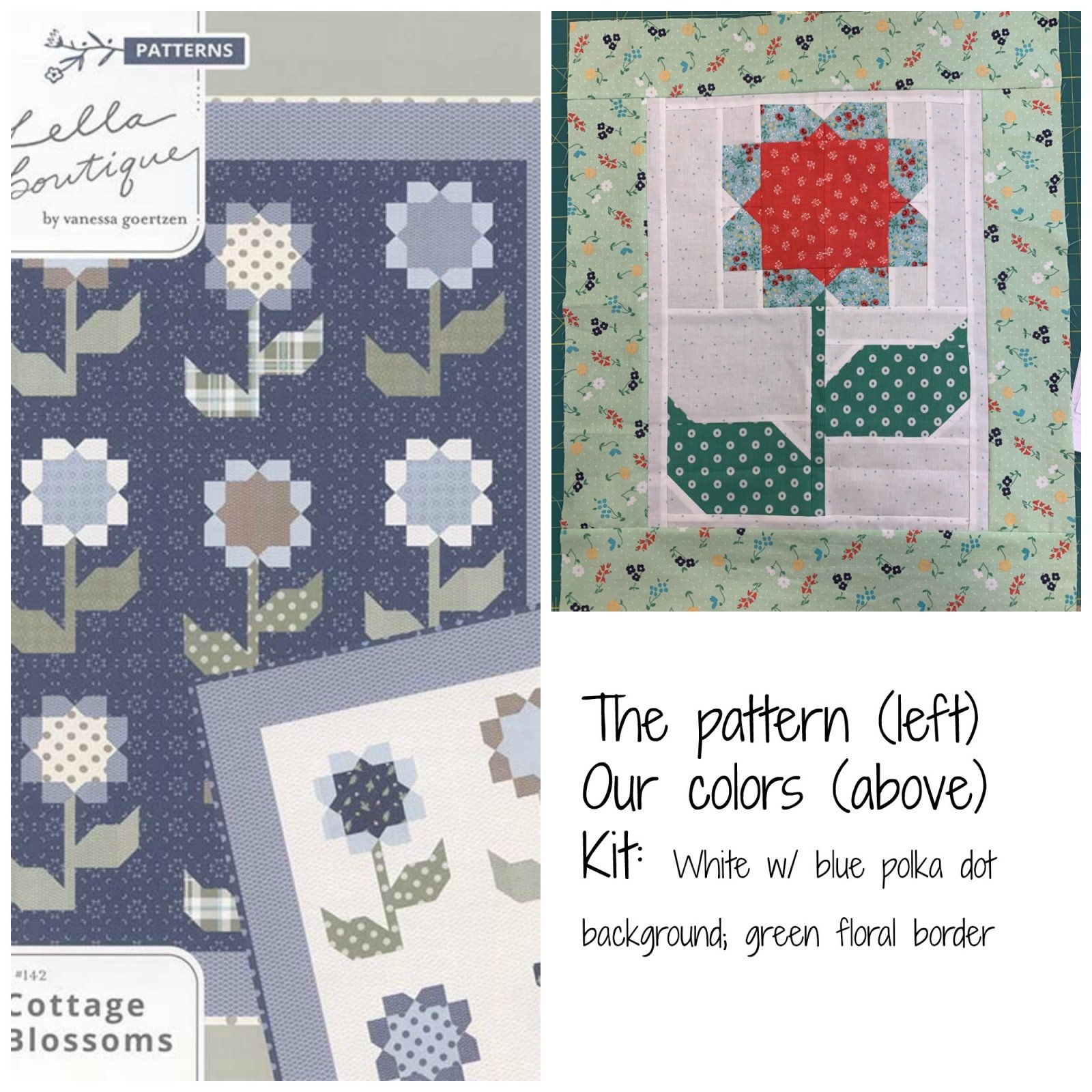 Cottage Blossoms w/ Sugarhouse- Kit