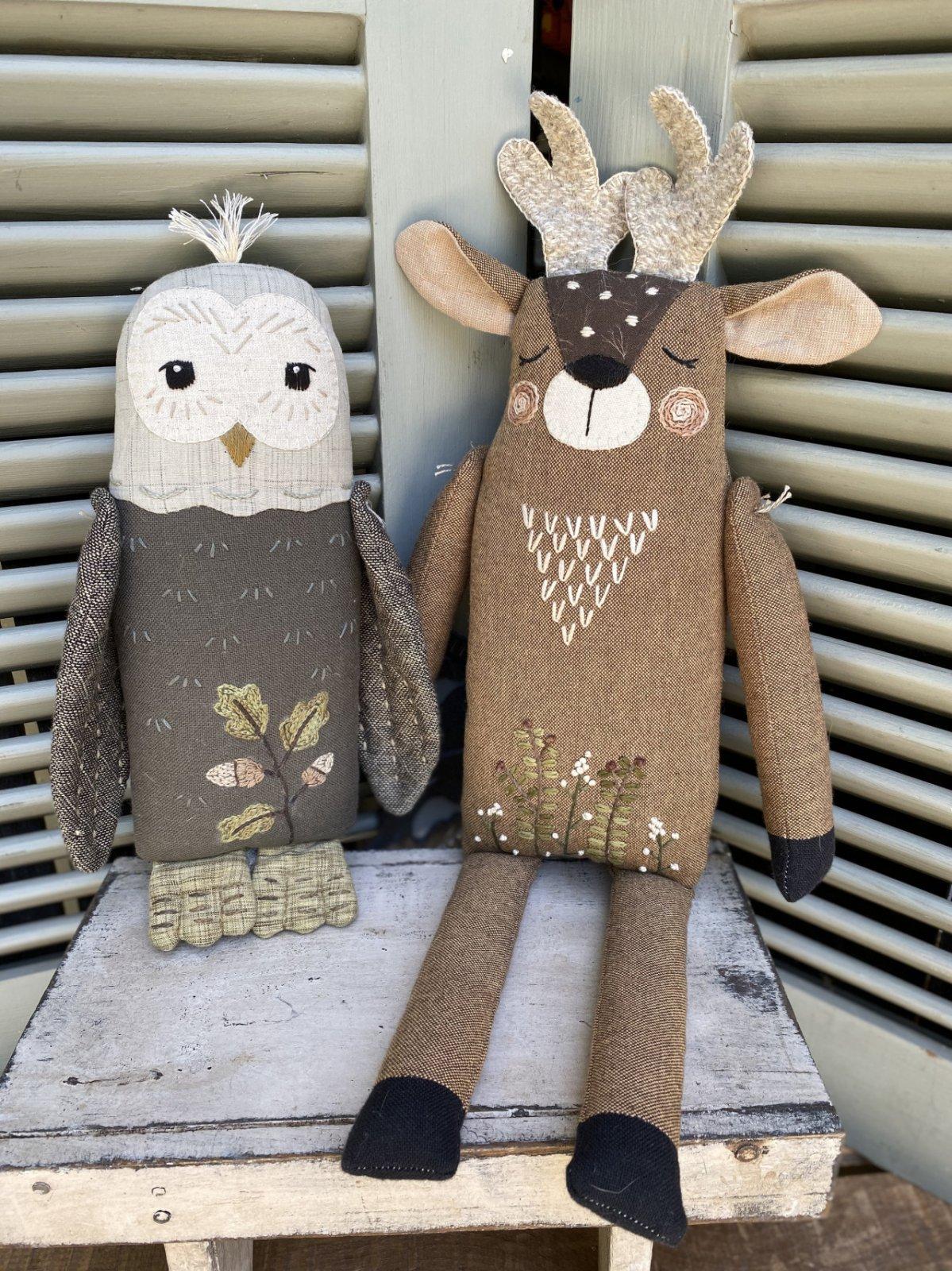 Forest Friends - Deer & Owl