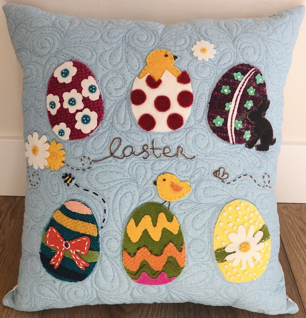 Easter Eggs in a Row pattern