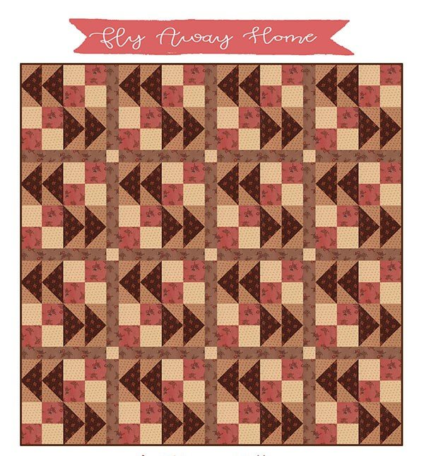 Fly Away Home -Brown/Rose Kit