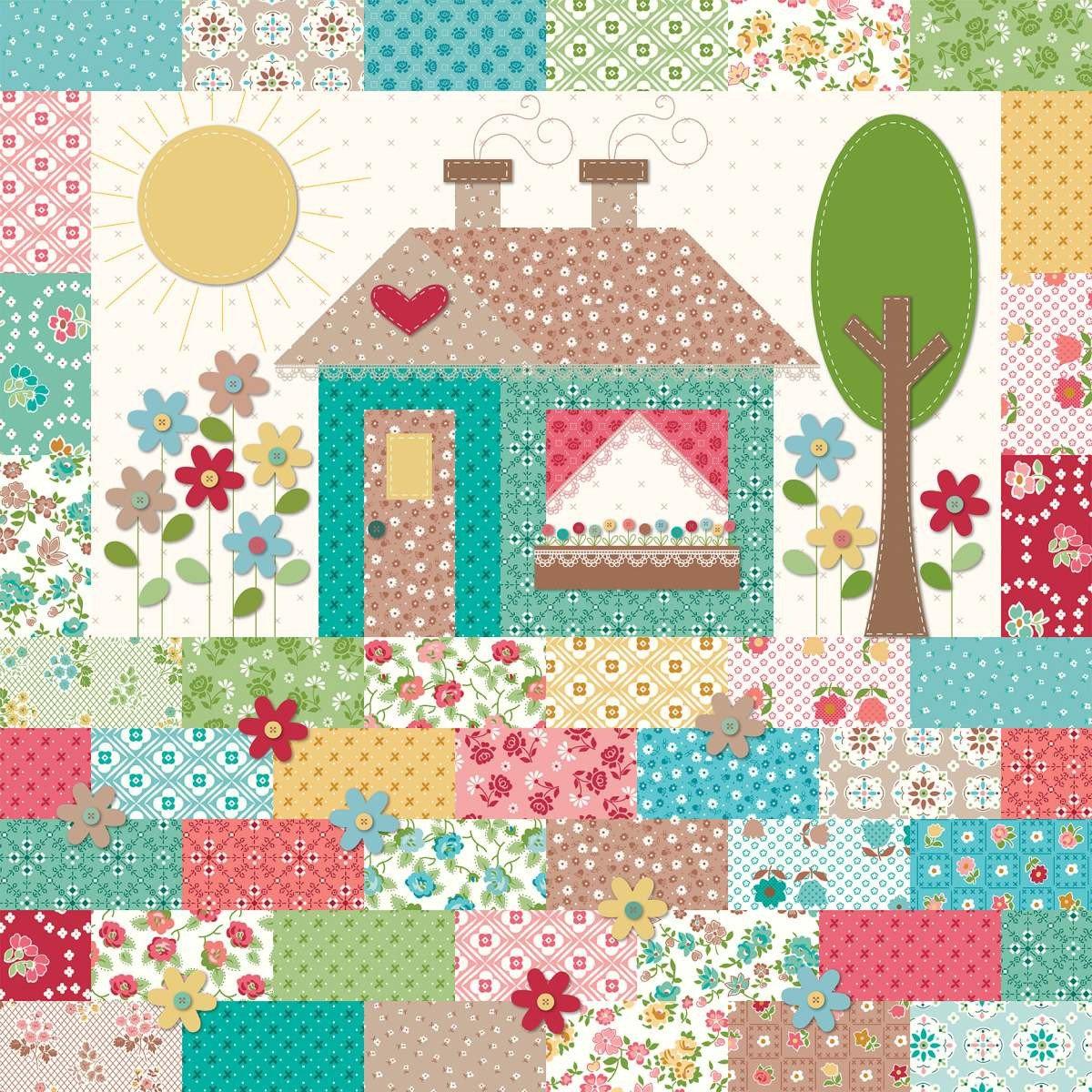 Granny's Garden Pillow Kit