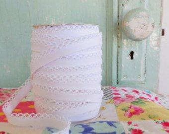 Crochet Edge DF Bias -white