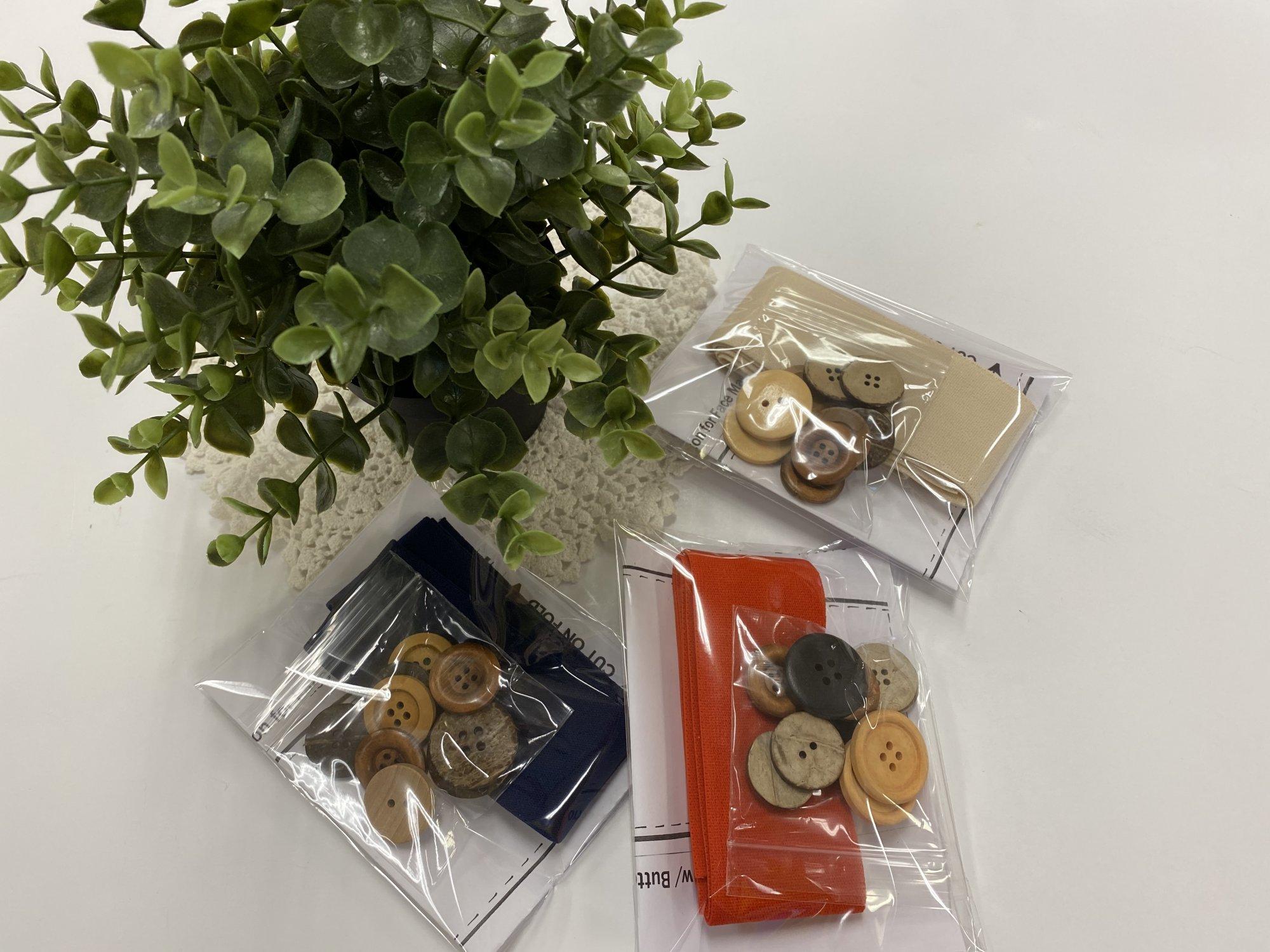 Elastic & Button Kit for Headbands  (makes 5)