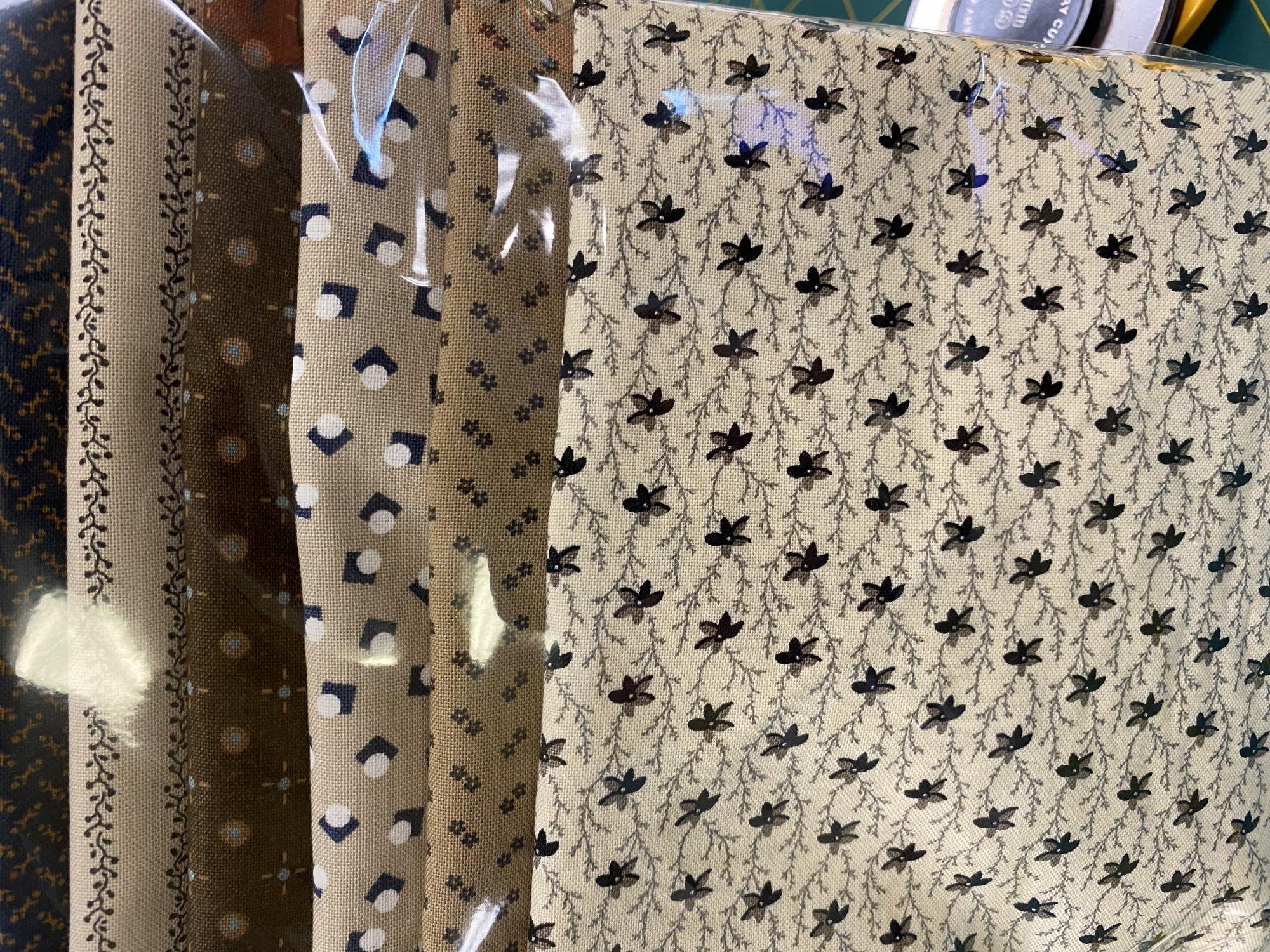 Mask Kit 6 x 6 fabrics - blue/brown
