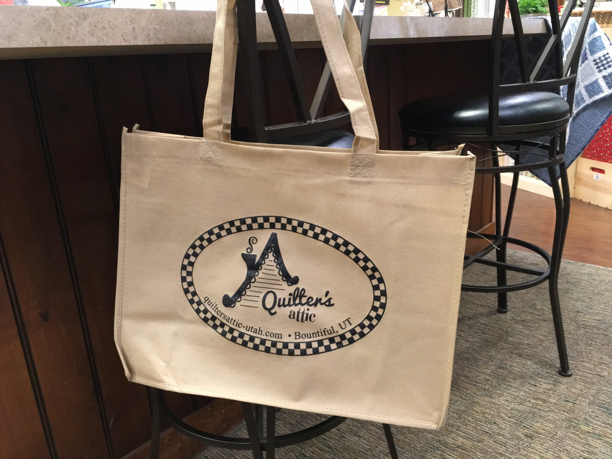 Quilters Attic Shopping Bag