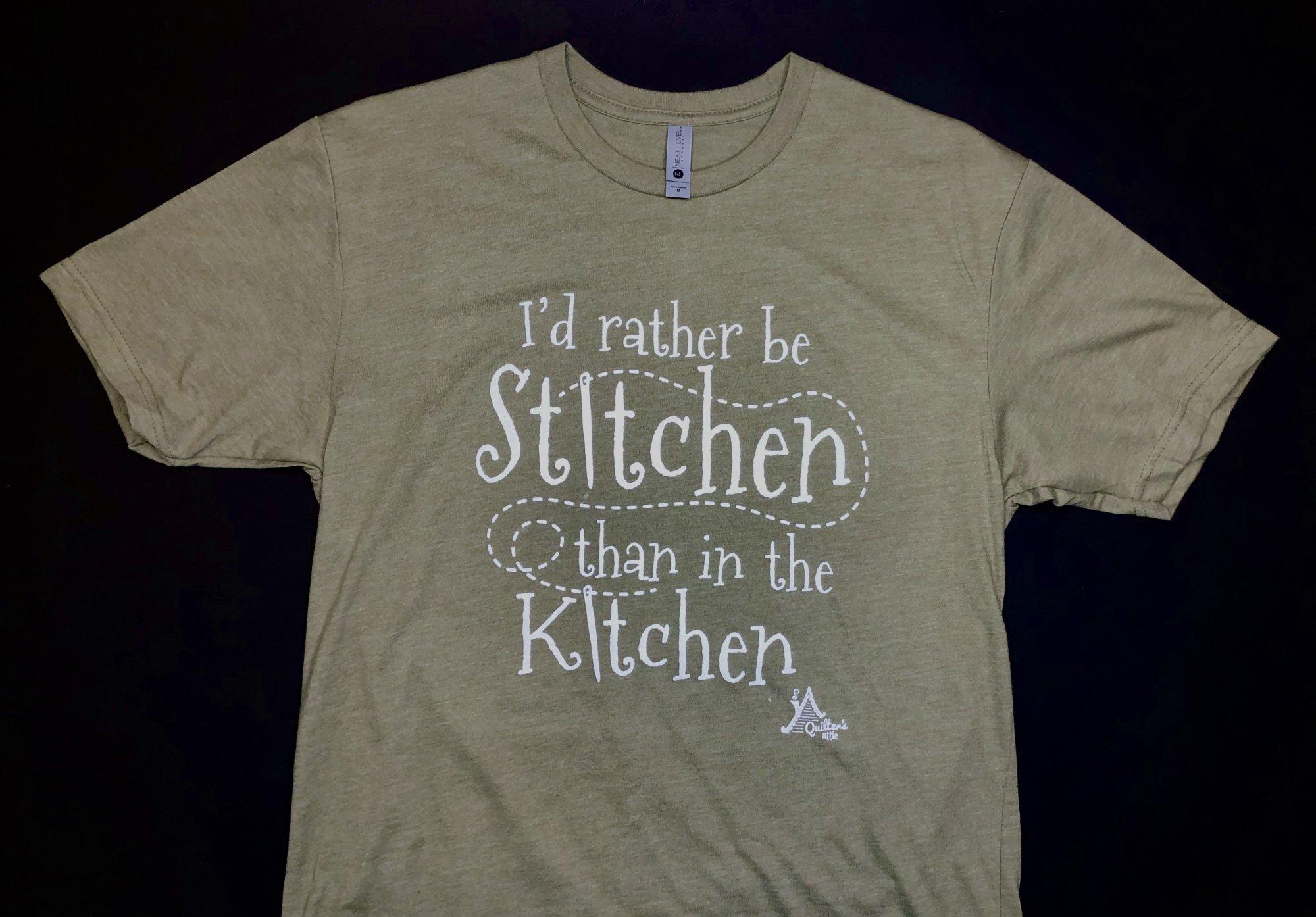 T-Shirt - Rather be Stitchin / XXL SAGE