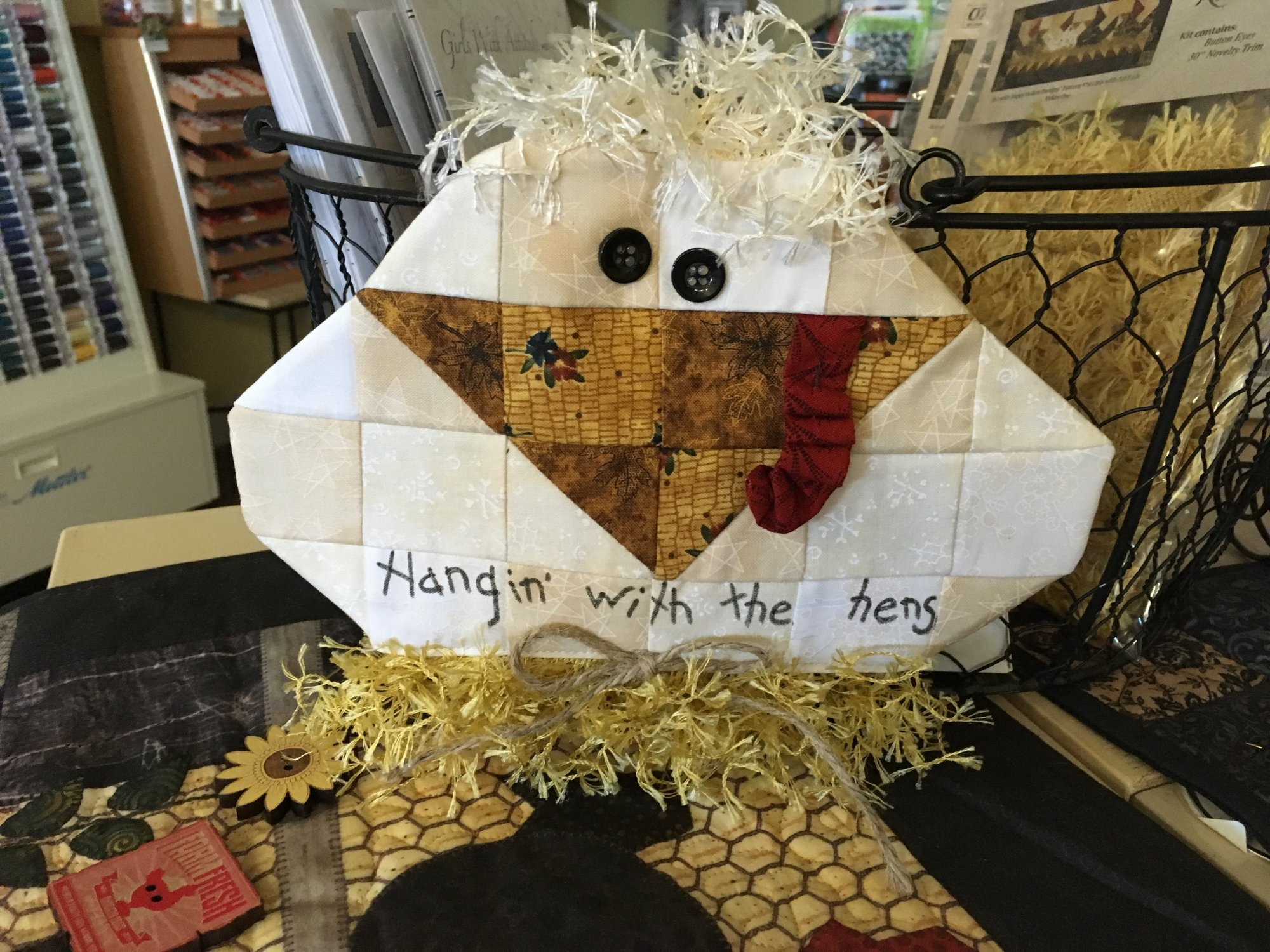 Hanging with the Hens -candle mat kit