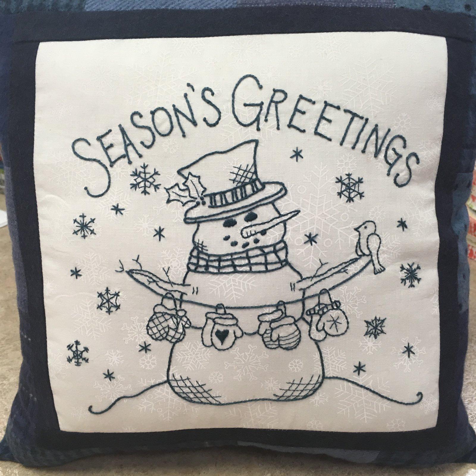 Seasons Greetings Pillow Kit