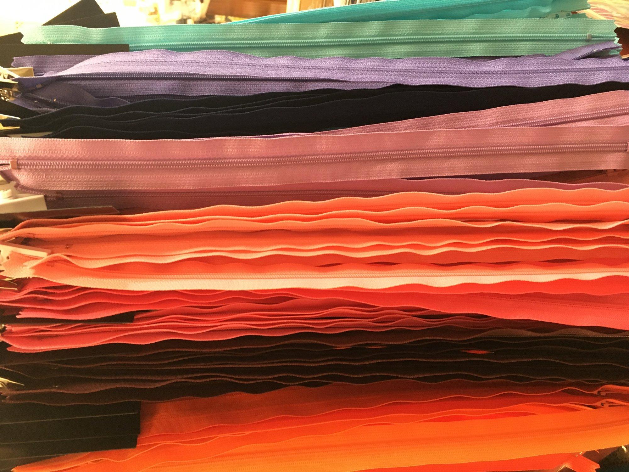 Zipper 20  - misc colors
