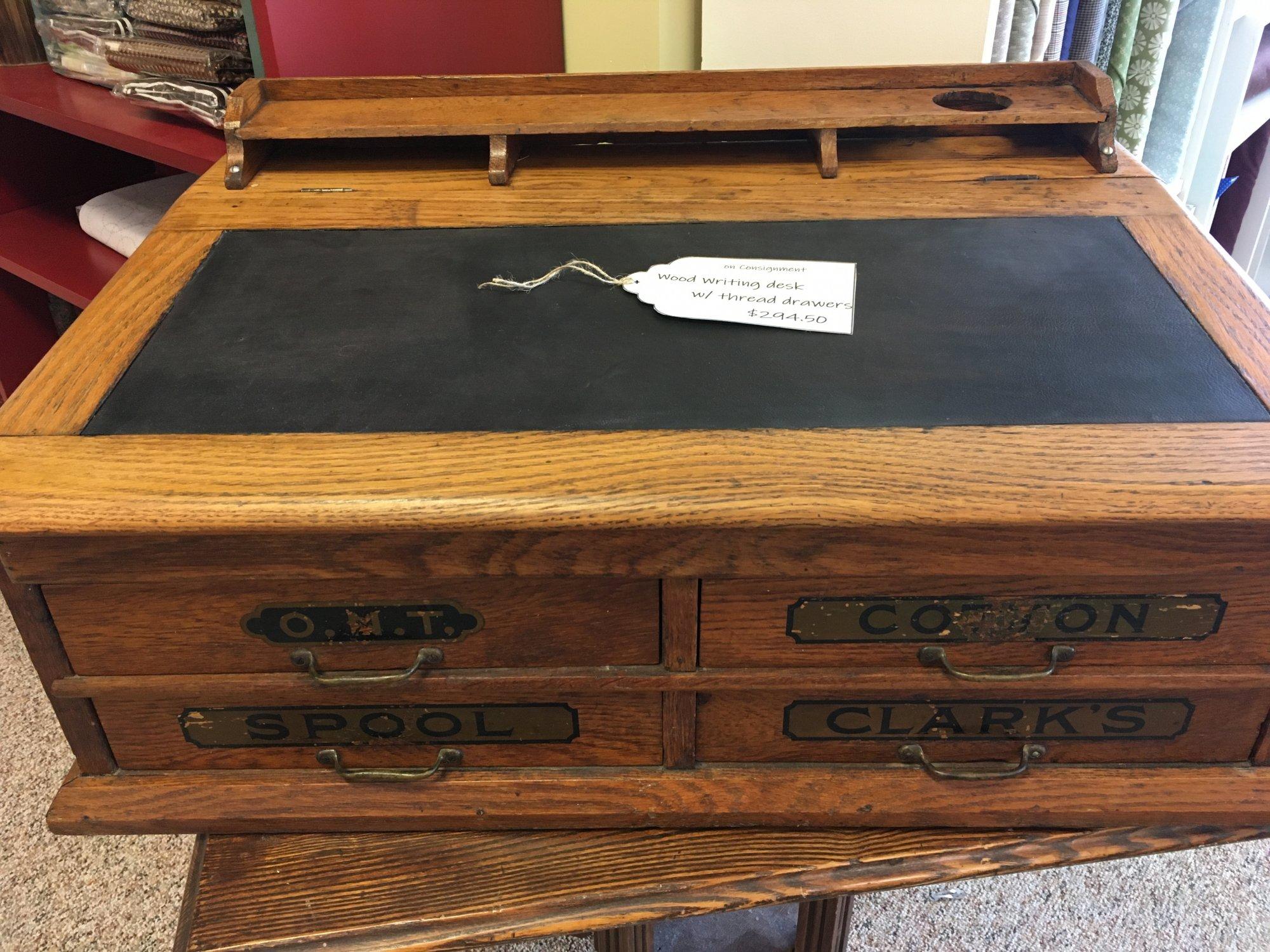 Wood Writing Desk w/ thread drawers