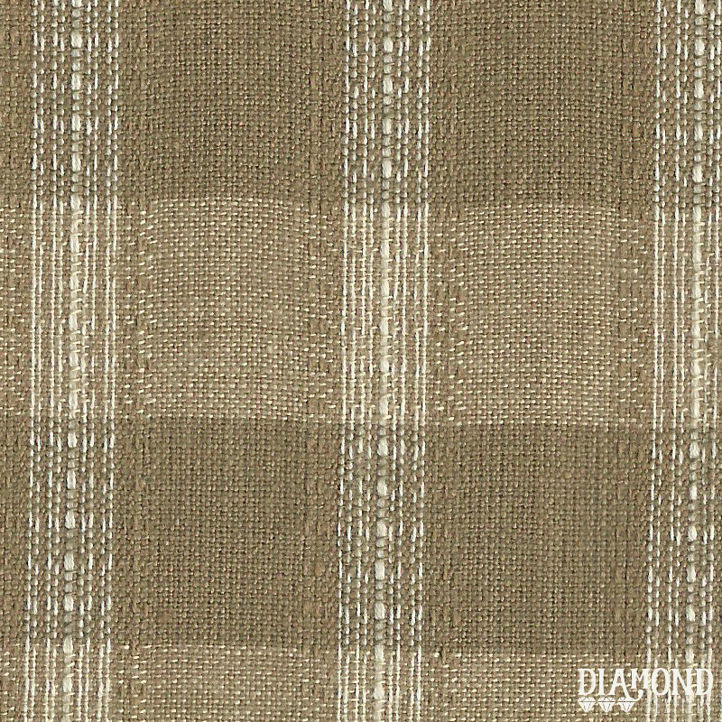 Nikko - brown check w/ thread stripe