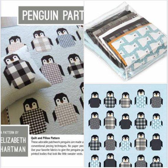 Penguin Party Arctic Flannel Kit - Elizabeth Hartman