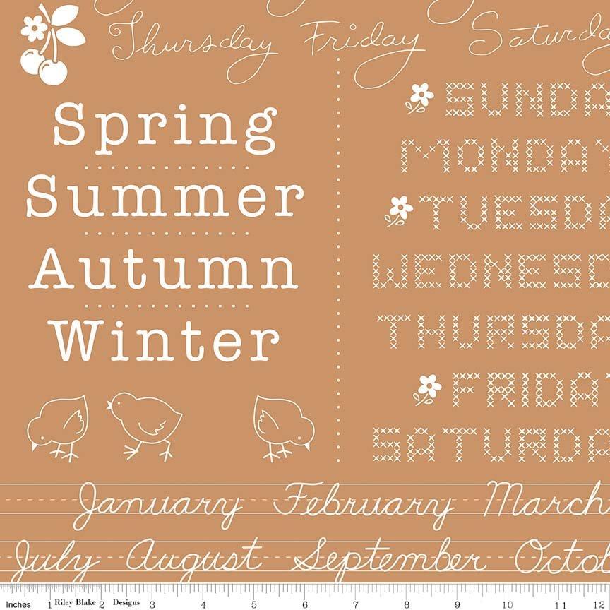 Calico Days calendar Nutmeg