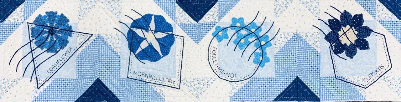 On-Line Quilters Trek True Blue Pattern