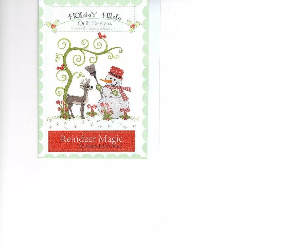 Holly Hill Reindeer Magic - Embroidery Designs CD