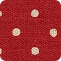 Canvas Red w/ Natural Dots