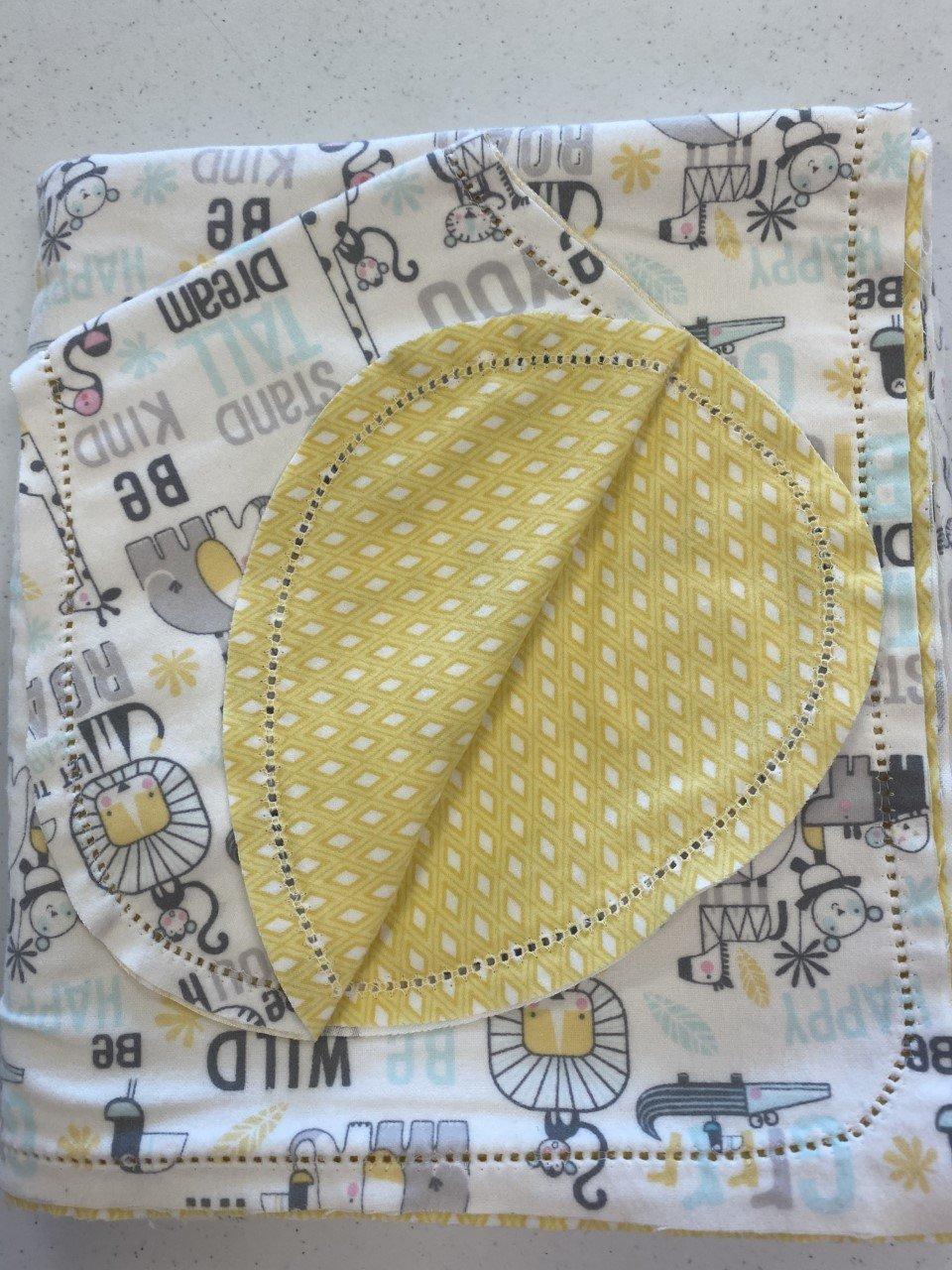 Set Blanket 36 & Burp - Snuggle Animals white