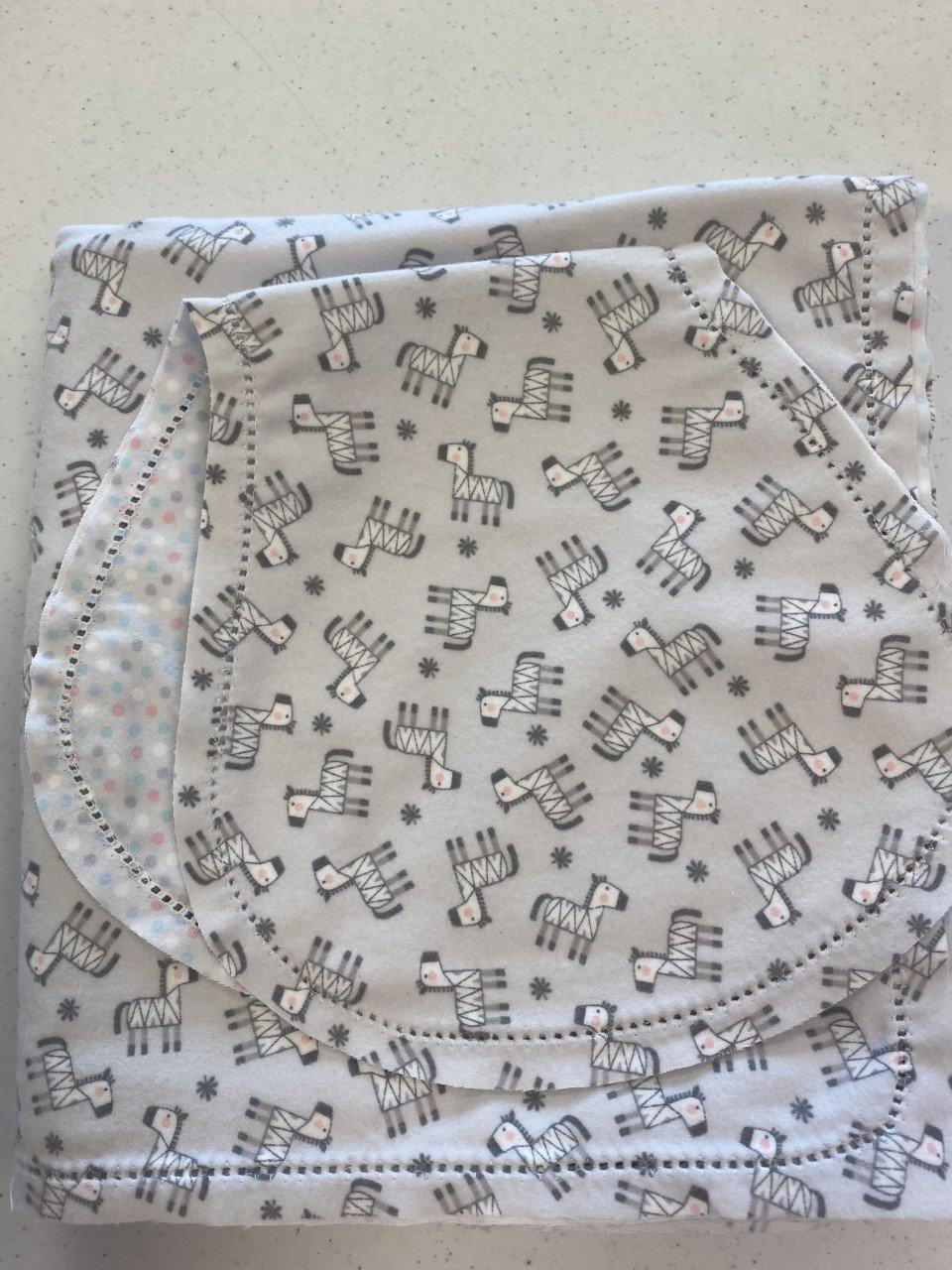 Set Blanket 42 & Burp - Snuggle Zebras gray