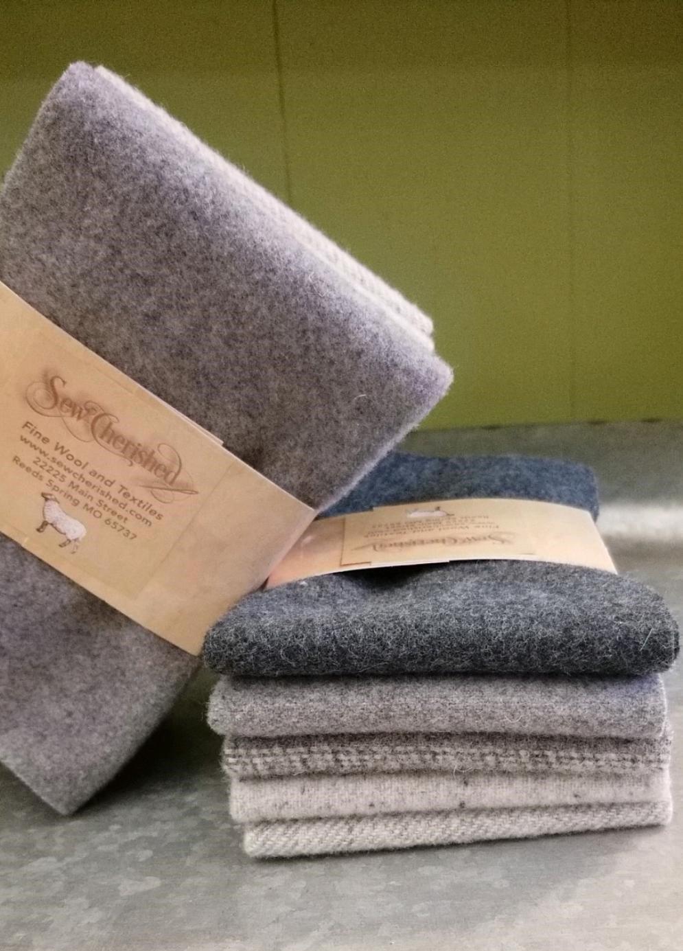 Sew Cherished Wool Buddies - shades of blue