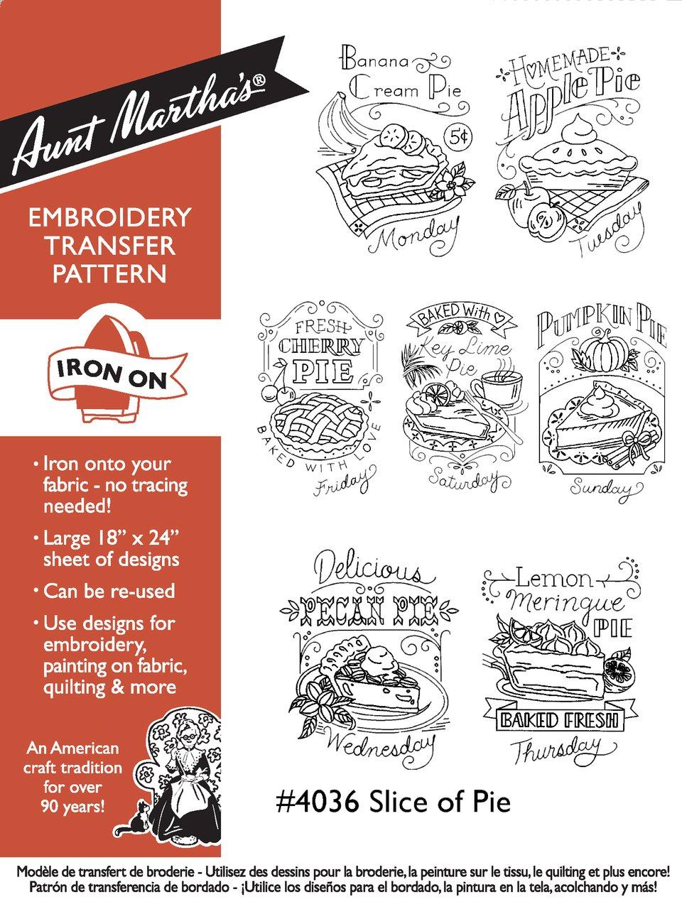 Aunt Martha's Slice of Pie Hot Iron Transfers