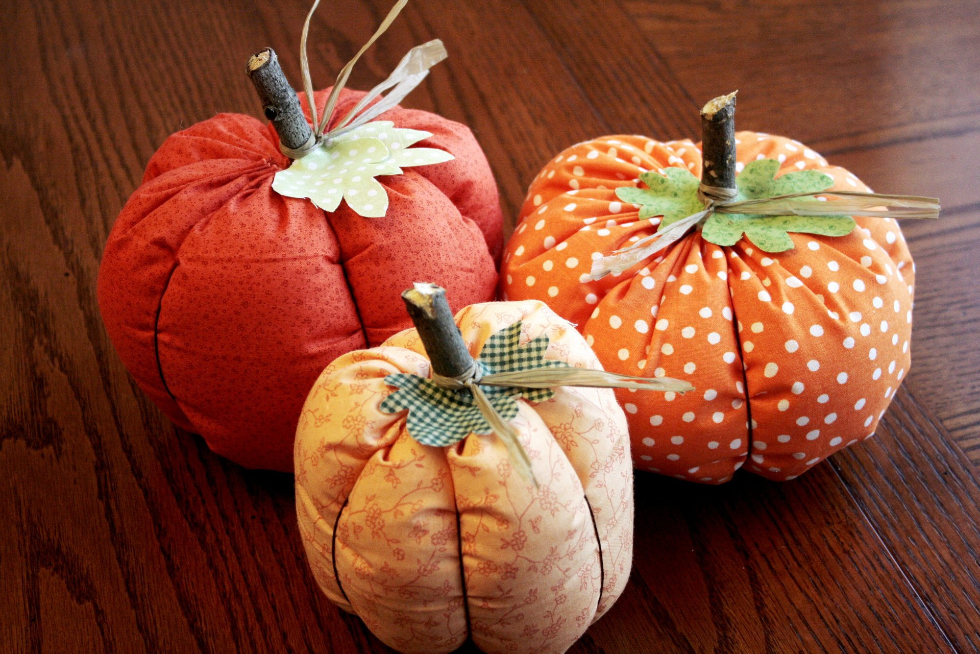 Fabric Pumpkins - makes 3-6 pumpkins KIT
