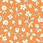 Aunt Grace orange w/ white flowers