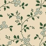 Heritage Red and Green - cream/green vine