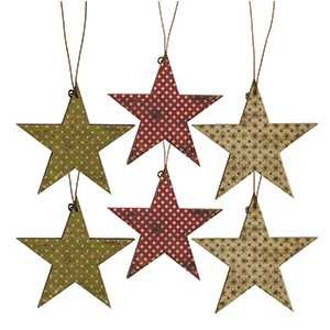 Vintage Star Ornaments - set of 6