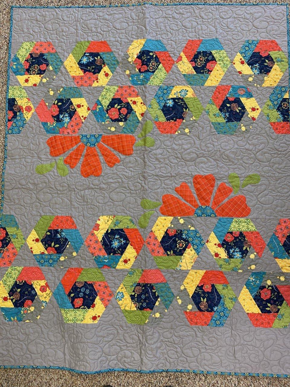 Wildflower Hexies 46 x 57