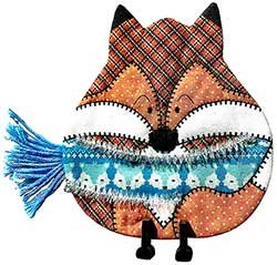 Fox Ugly Sweater Airmail Ornament Kit