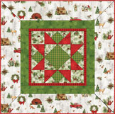 Cozy Cabin Christmas Table Topper Kit