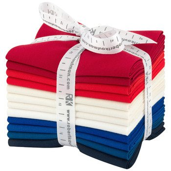 Fat Quarter Kona Cotton - Patriotic Palette