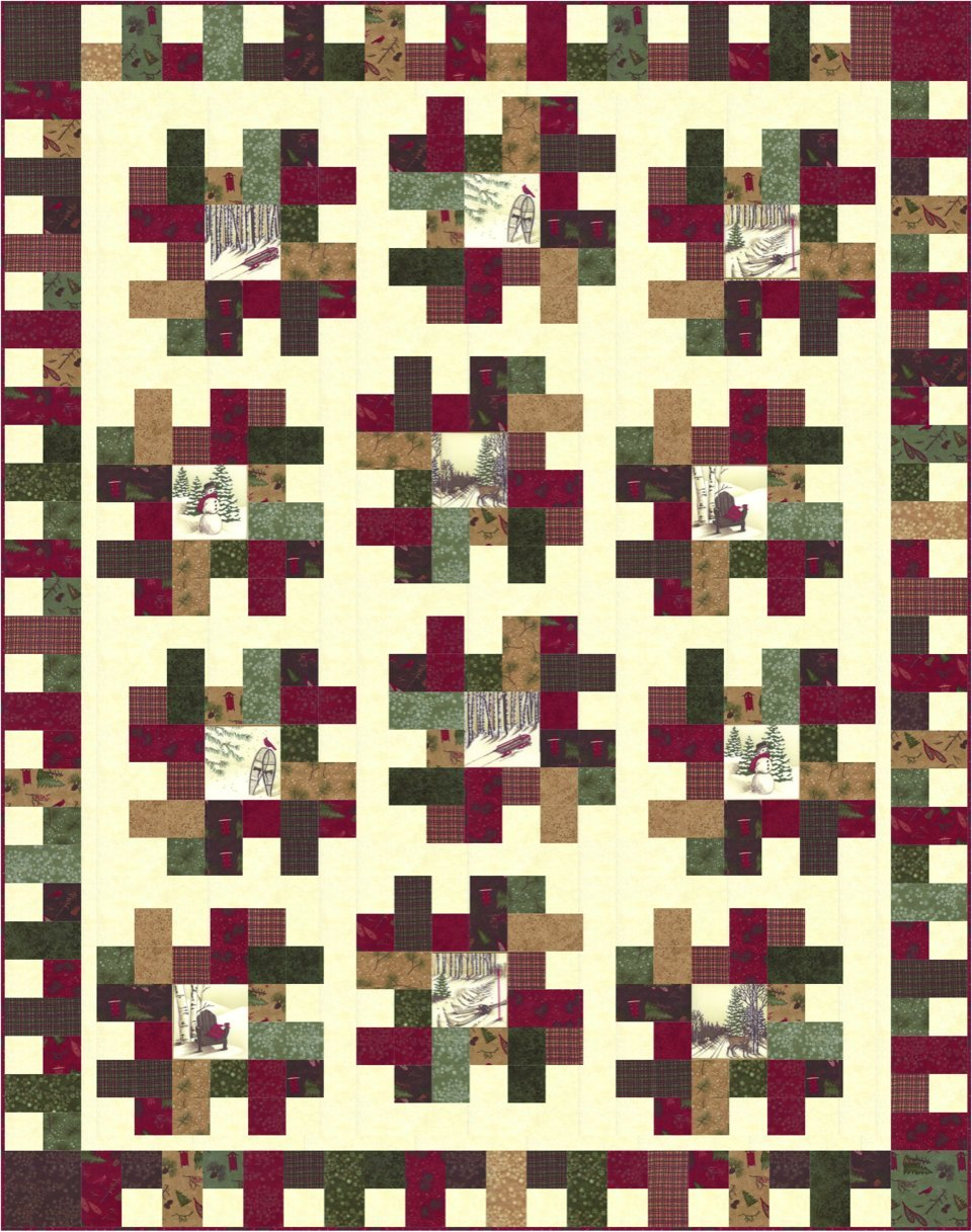 Frosted Flannels Quilt Kit