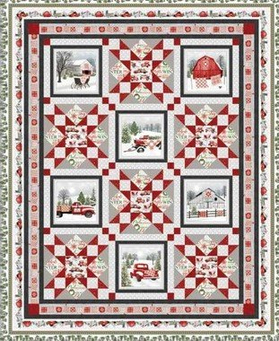 Holiday Heartland Quilt Kit