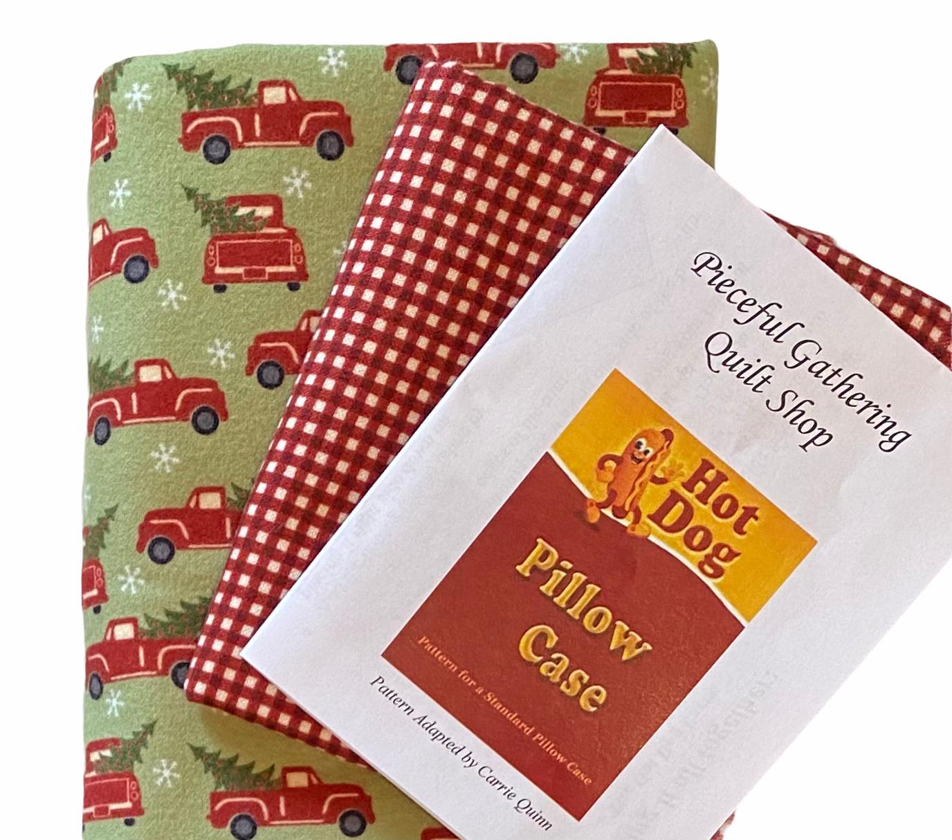 Flannel Pillow Case Kit - Trucks