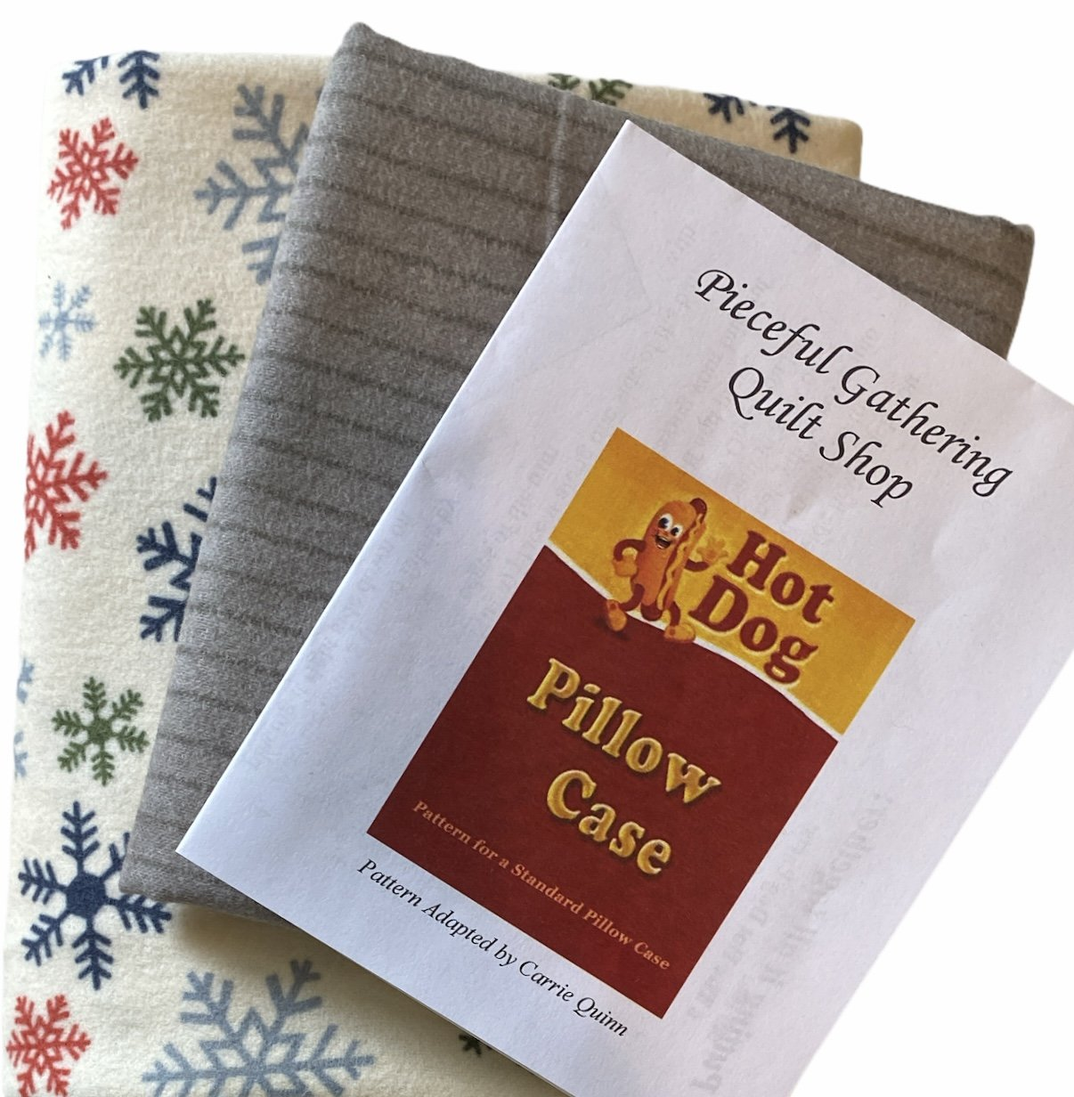 Flannel Pillow Case Kit - Snowflakes