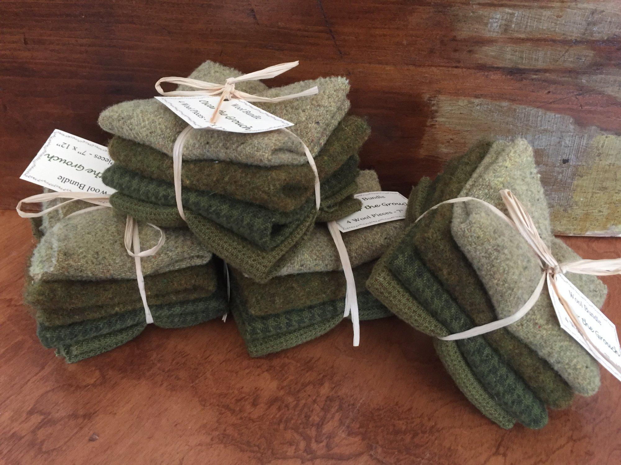 Wool Bundle B - Oscar the Grouch Green