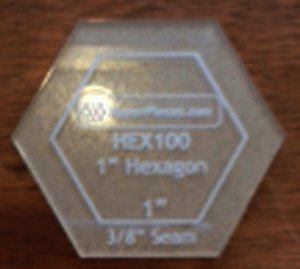 Acrylic Hexagon 1''