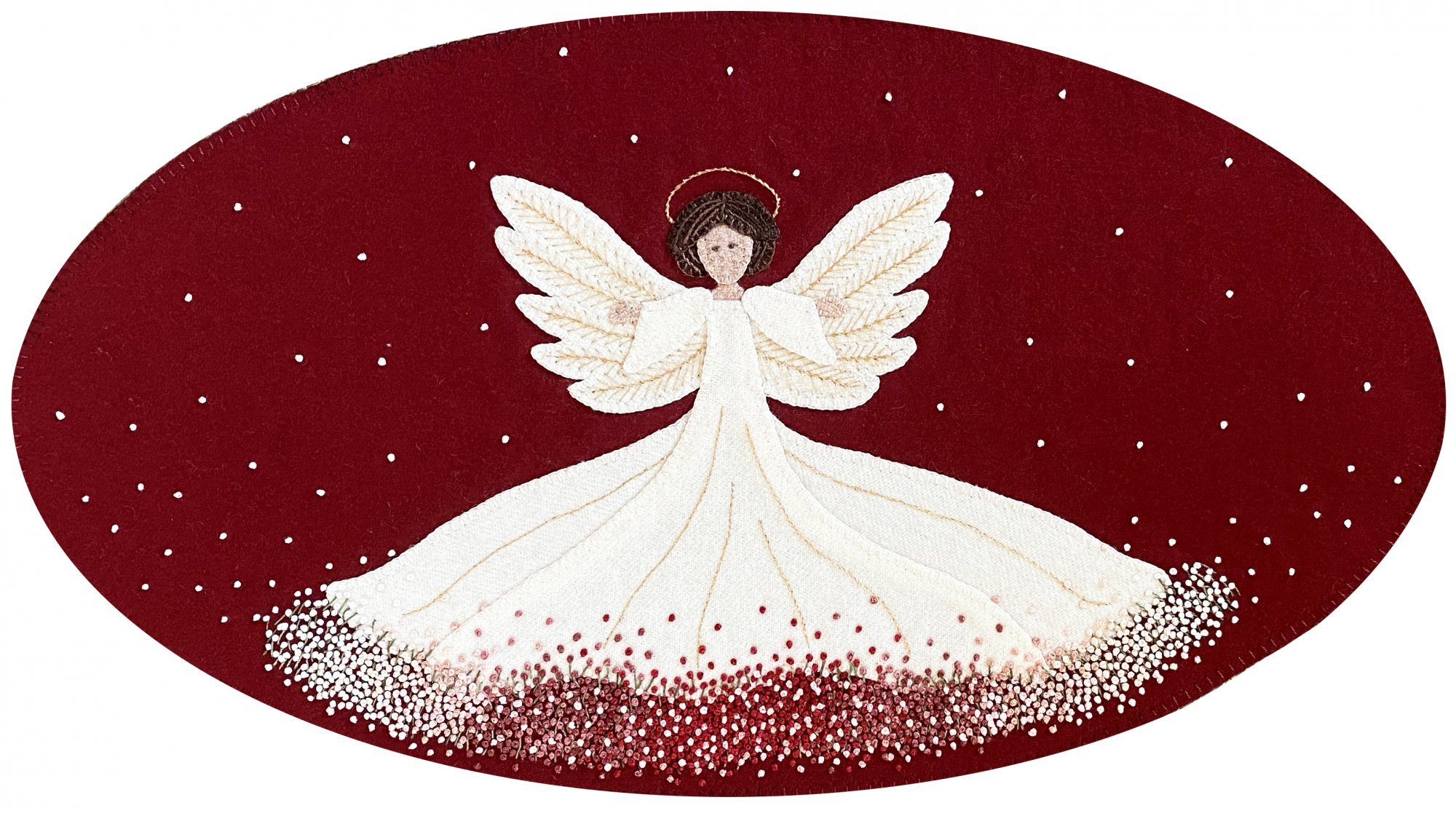 Angel Dust Wool Mat Pattern DIGITAL DOWNLOAD - Karen Yaffe
