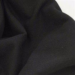 Black Solid 100% Wool