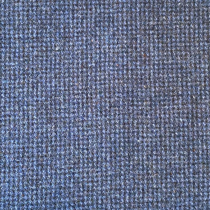 Blue Check 100% Wool