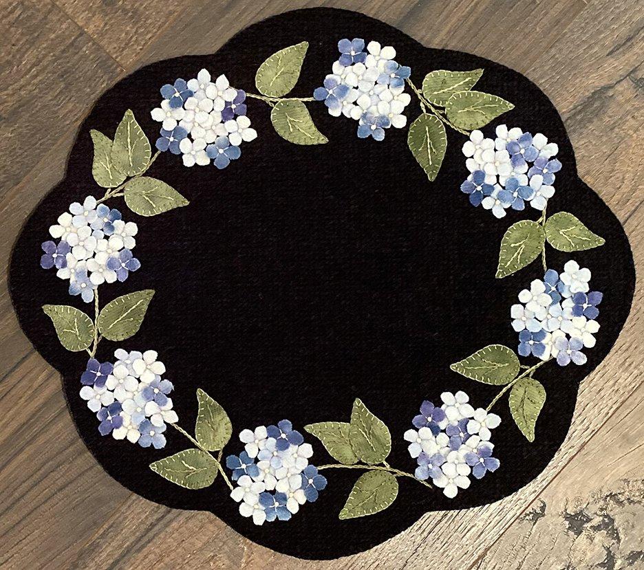 Blue Hydrangea Wool Mat Kit