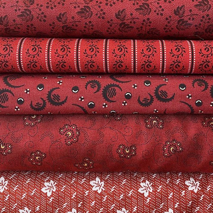 Bright Red 5 Fat Quarter Bundle Jan 21